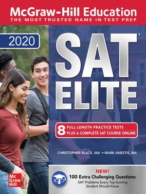 cover image of McGraw-Hill Education SAT Elite 2020