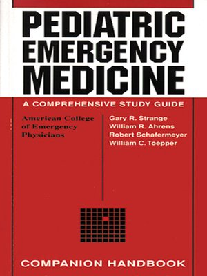 cover image of Pediatric Emergency Medicine Companion Handbook