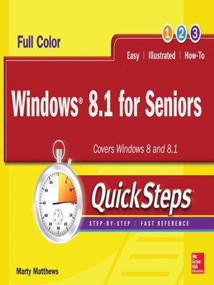 cover image of Windows 8.1 for Seniors QuickSteps