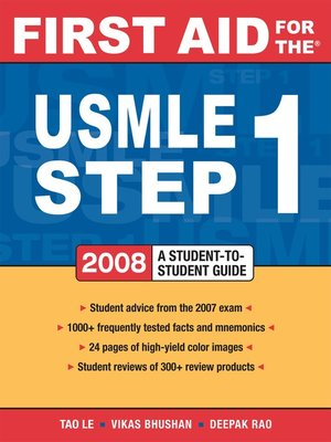 cover image of First Aid for the® USMLE Step 1 2008
