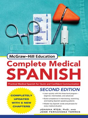 cover image of McGraw-Hill's Complete Medical Spanish