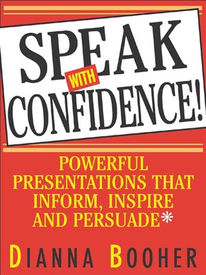 cover image of Speak with Confidence!