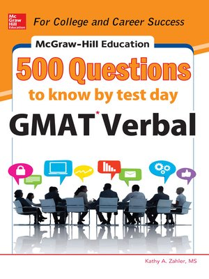 cover image of McGraw-Hill Education 500 GMAT Verbal Questions to Know by Test Day