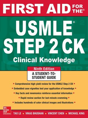 cover image of First Aid for the USMLE Step 2 CK