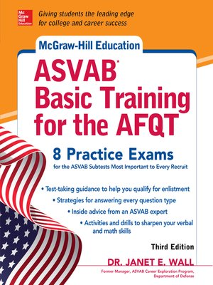 cover image of McGraw-Hill Education ASVAB Basic Training for the AFQT