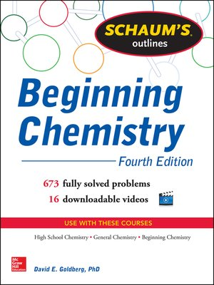 cover image of Schaum's Outline of Beginning Chemistry