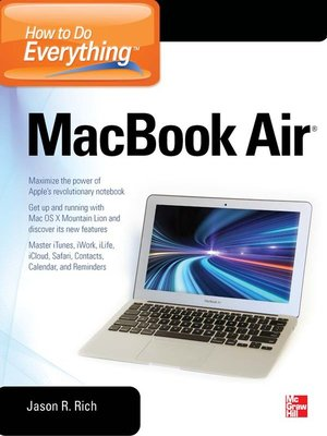 cover image of How to Do Everything MacBook Air