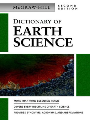 cover image of Dictionary of Earth Science