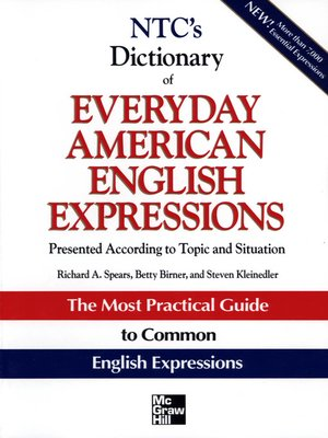 cover image of NTC's Dictionary of Everyday American English Expressions