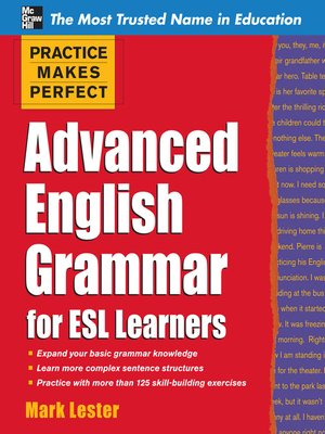 cover image of Advanced English Grammar for ESL Learners