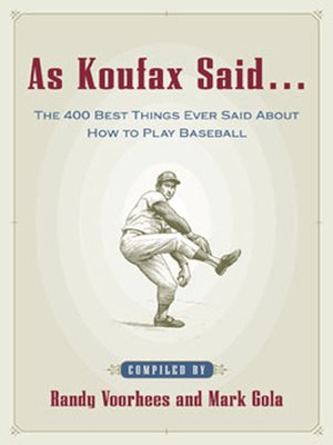 cover image of As Koufax Said...