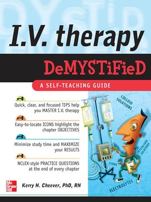 cover image of I. V. Therapy Demystified