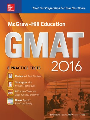 cover image of McGraw-Hill Education GMAT 2016