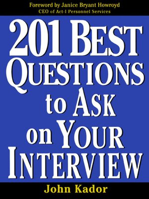 cover image of 201 Best Questions to Ask on Your Interview