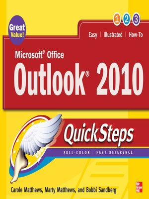 cover image of Microsoft Office Outlook 2010 QuickSteps