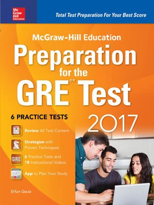 cover image of McGraw-Hill Education Preparation for the GRE Test 2017