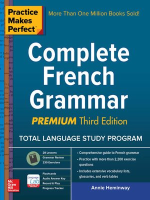 cover image of Practice Makes Perfect Complete French Grammar, Premium