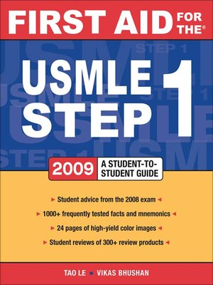cover image of First Aid for the® USMLE Step 1 2009
