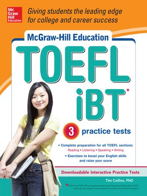 cover image of McGraw-Hill Education TOEFL iBT with 3 Practice Tests and DVD-ROM