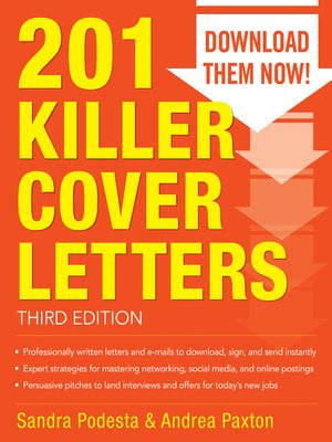 cover image of 201 Killer Cover Letters
