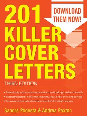 Killer Cover Letters By Sandra Podesta  Overdrive Rakuten
