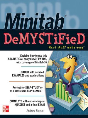 cover image of Minitab Demystified