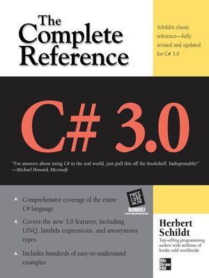 cover image of C# 3.0 The Complete Reference