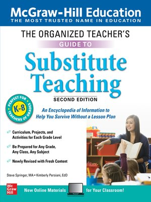cover image of The Organized Teacher's Guide to Substitute Teaching, Grades K-8
