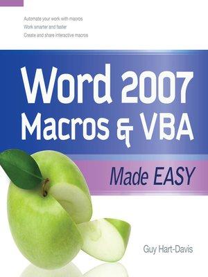 cover image of Word 2007 Macros & VBA Made Easy