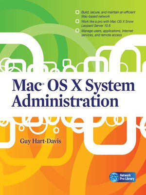 cover image of Mac® OS X System Administration