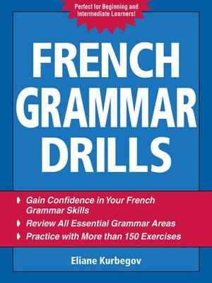 cover image of French Grammar Drills