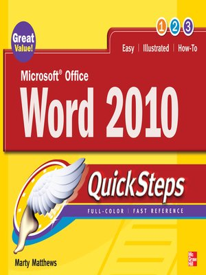 cover image of Microsoft Office Word 2010 QuickSteps