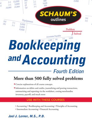 cover image of Bookkeeping and Accounting