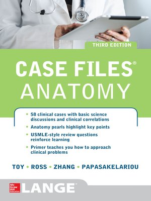 cover image of Case Files Anatomy 3/E