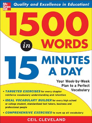 cover image of 1500 Words in 15 Minutes a Day