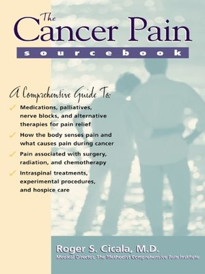 cover image of The Cancer Pain Sourcebook
