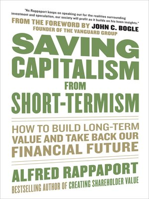 cover image of Saving Capitalism From Short-Termism