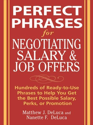 cover image of Perfect Phrases for Negotiating Salary and Job Offers