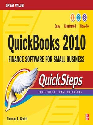 cover image of QuickBooks 2010 QuickSteps