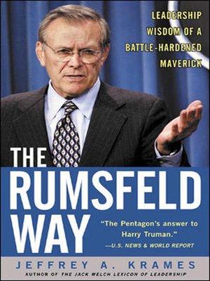 cover image of The Rumsfeld Way