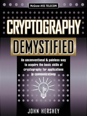 cover image of Cryptography Demystified