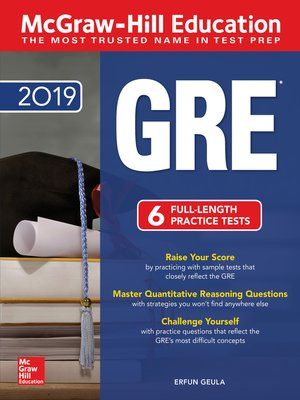 cover image of McGraw-Hill Education GRE 2019