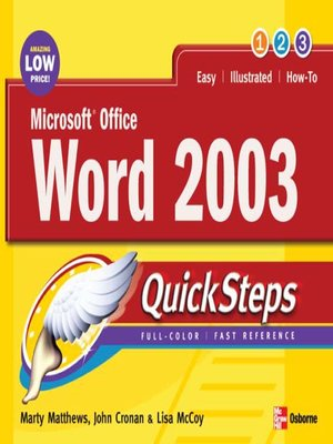cover image of Microsoft® Office Word 2003