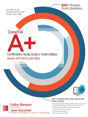 cover image of CompTIA A+ Certification Study Guide (Exams 220-1001 & 220-1002)