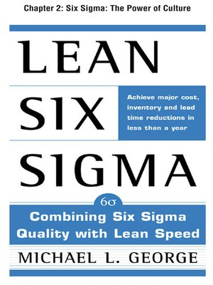 cover image of Six Sigma: The Power of Culture