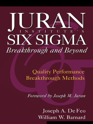 cover image of Juran Institute's Six Sigma