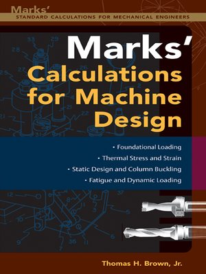 cover image of Mark's Calculations for Machine Design