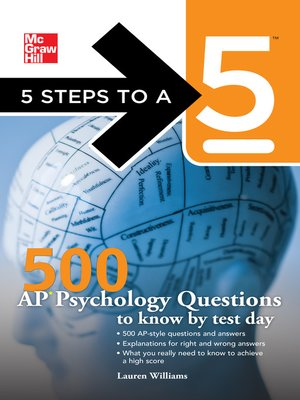 cover image of 500 AP Psychology Questions to Know by Test Day