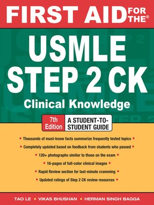 cover image of First Aid for the® USMLE Step 2 CK