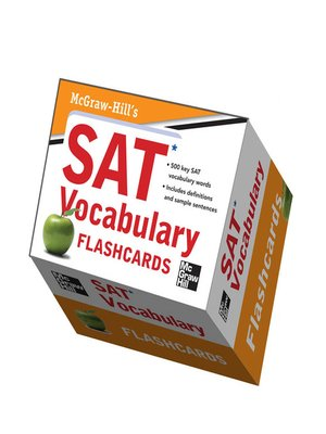 cover image of McGraw-Hill's SAT Vocabulary Flashcards